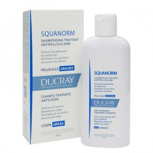 Shampoing Anti-Pelliculaire Squanorm Ducray Pellicules Grasses 200ml Labos Pierre Fabre