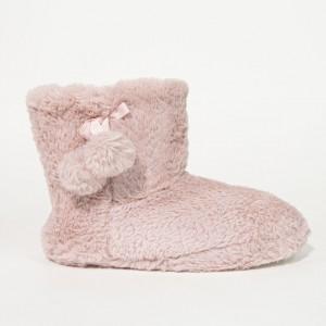 Pantoufles Bottines Femme Rose