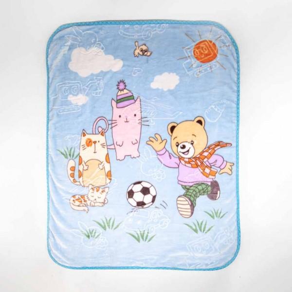 Couverture Enfant super doux à moutif animaux 120x105cm - DREAM TRUE - HOME TEXTILE