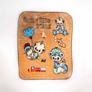 """Couverture Enfant super doux à moutif """"Happy Little Friend"""" 120x105cm - DREAM TRUE - HOME TEXTILE"""