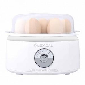 Cuiseur - Chaudière à œufs électrique facile et rapide LEXICAL LEB-1302 - Blanc
