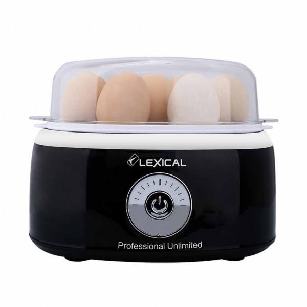Cuiseur - Chaudière à œufs électrique facile et rapide LEXICAL LEB-1302 - Noir