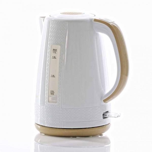 Bouilloire électrique en plastique Lexical LEK-1401 1.7l 2200W - Blanc/Beige