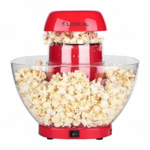 Machine à pop-corn avec Bol amovible de 4,5 L  2-4 minutes sans huile LEXICAL LPO-3502 1200 W - Rouge