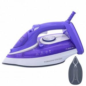Fer à vapeur avec plaque en Céramique - repasser   LEXICAL SLI-1013 2200W - Blanc/Violet