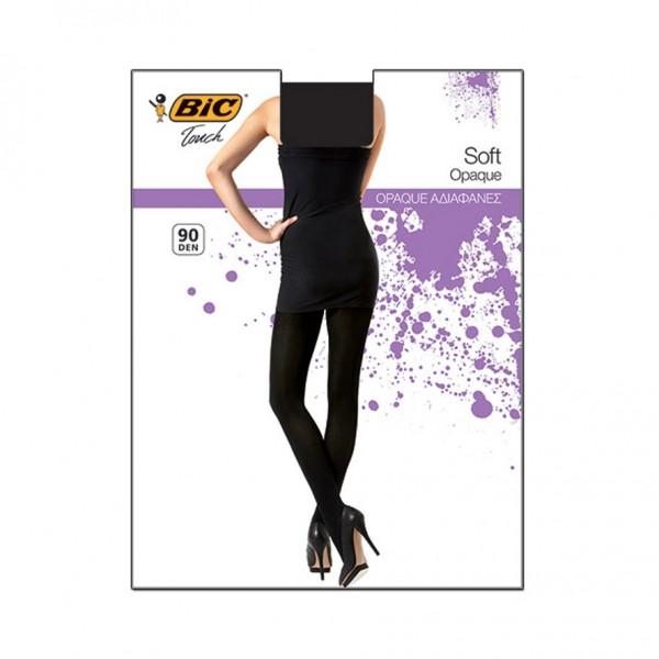 Bic Touch Collant Femme Opaque Soft 90D Noir Gr