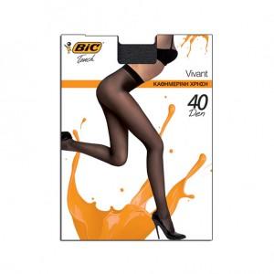Bic Touch Collant Femme Semi-Transparent Ultra Résistant Vivant 40 Den