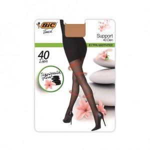 Bic Touch Collant Femme Semi-Transparent Support 40D