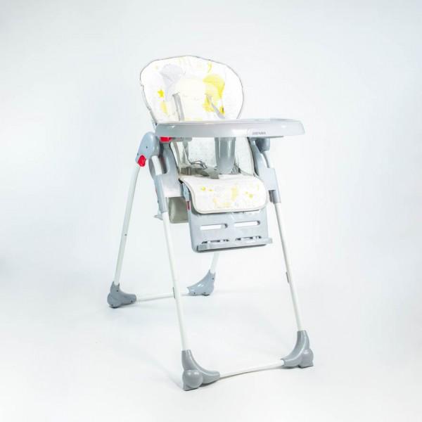 Chaise Haute pour Bébé Réglable avec Plateau à Manger Amovible -SHENMA- Gris
