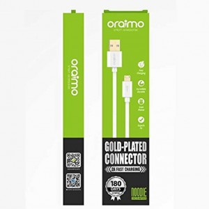 Cable de chargement 1m Micro USB Android OCD-M102 - Blanc - Oraimo