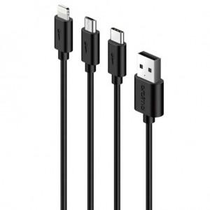 Cable de chargement 3 en 1 OCD-X91 - Noir - Oraimo