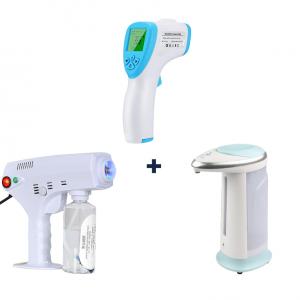 Pulvérisateur à vapeur portable + Thermomètre infrarouge + Distributeur de Savon