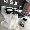 Couverture Plaid Polaire En Fausse Fourrure Douce Et Luxueuse - 200x170cm - SNOWY - Blanc