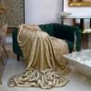 Couverture Plaid En Fausse Fourrure Douce Et Luxueuse - 200x170cm - LEOPARD - Beige Taupe