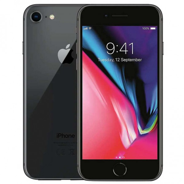 iPhone 8 reconditionné 64Go Grade B - Gris - PHONE RECYCLE SOLUTION