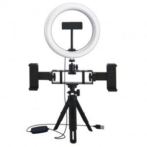 Anneau Lumineux 10'' avec Trépied et support de téléphone portable - Selfie Ring Light- UN-207