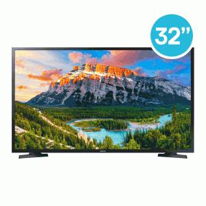 """TV Samsung 32"""" N5300 LED Flat Smart  1336x768 - Wi-Fi et Navigateur Inclus - Récepteur et TNT Intégrés - 2 ports HDMI 1 port USB 1 port Ethernet"""