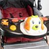 Poussette Bébé réversible avec table d'activités musical - JINBAO - Rouge 32613