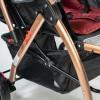 Poussette Bébé réversible avec table d'activités musical - JINBAO - Rouge 32615