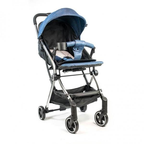 Poussette Bébé de voyage pliable valise  – KINLEE-  Bleu