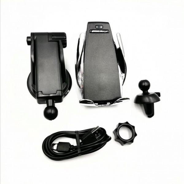 SMART SENSOR Chargeur sans fil pour voiture  2-en-1  avec support - Noir