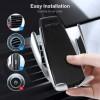 SMART SENSOR Chargeur sans fil pour voiture  2-en-1  avec support - Noir 33679