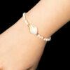 Bracelet Océan en perles Joher avec breloque en nacre et séparation en acier trempé en or - Rose Gold 36813