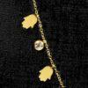 Choker Zina en acier inoxydable trempé en or - Doré 36957