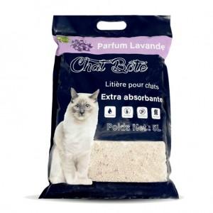 Litière 5L absorbante pour chat - Parfum Lavande - CHAT BOTE