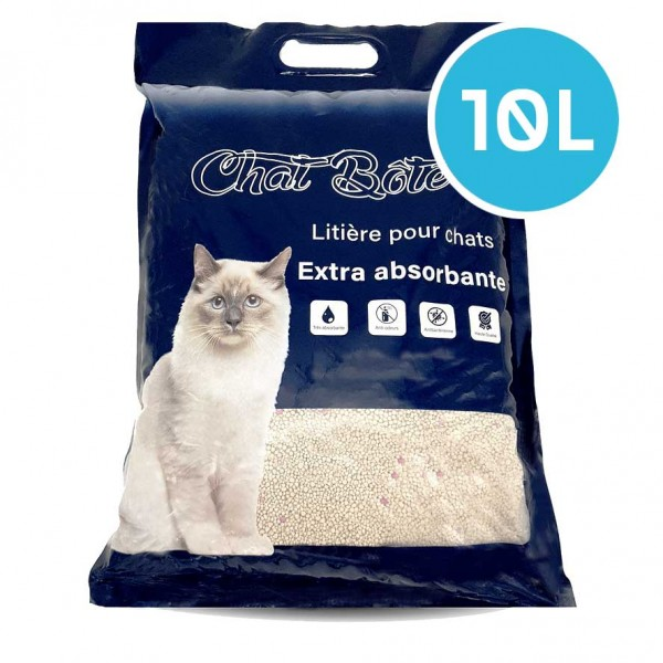 Litière 10L absorbante pour chat - Sans parfum - CHAT BOTE