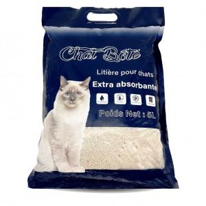 Litière 5L absorbante pour chat - Sans parfum - CHAT BOTE