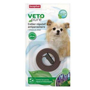 Collier VNA répulsif antiparasitaire pour chien/chiot 60cm 6753 – Beaphar – Blanc