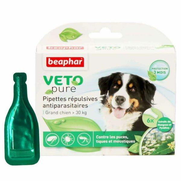 Lot de 3 pipettes répulsives antiparasitaires grand chien 6146 – Beaphar